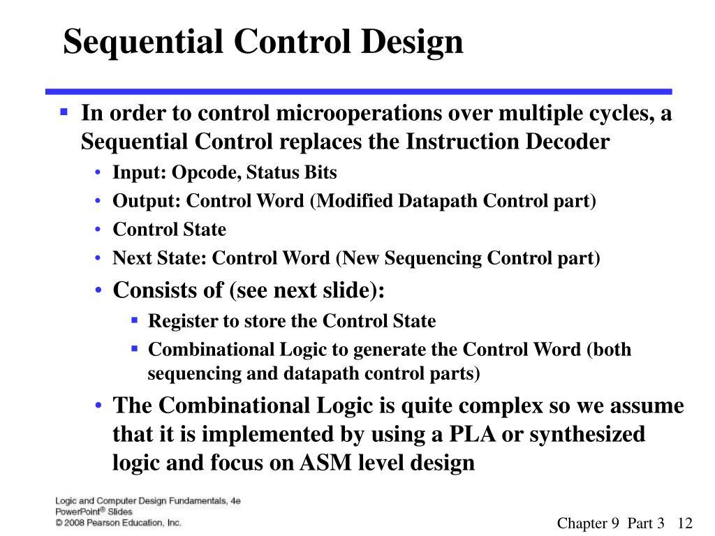 Sequential Control Design