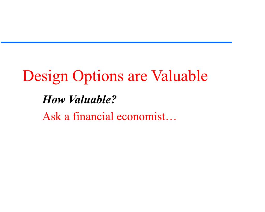 Design Options are Valuable