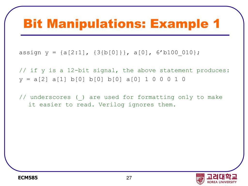 Bit Manipulations: Example 1