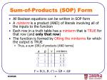 sum of products sop form
