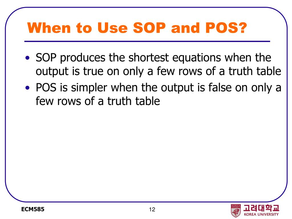 When to Use SOP and POS?