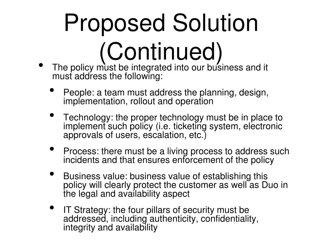 Proposed Solution (Continued)