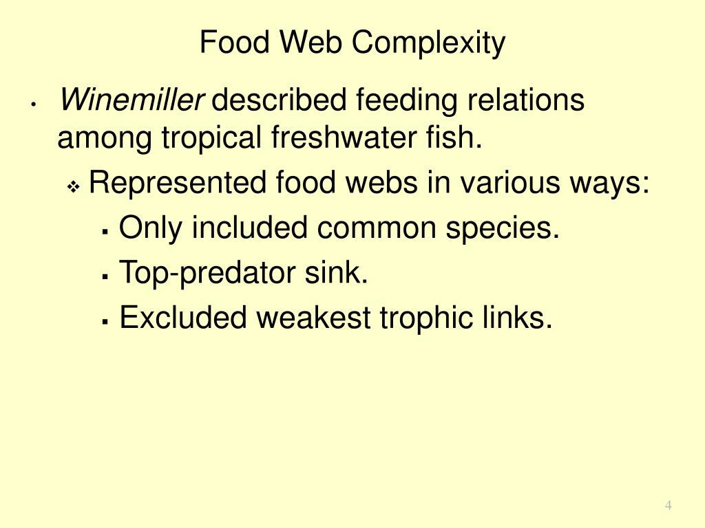 Food Web Complexity