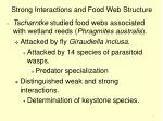 strong interactions and food web structure7