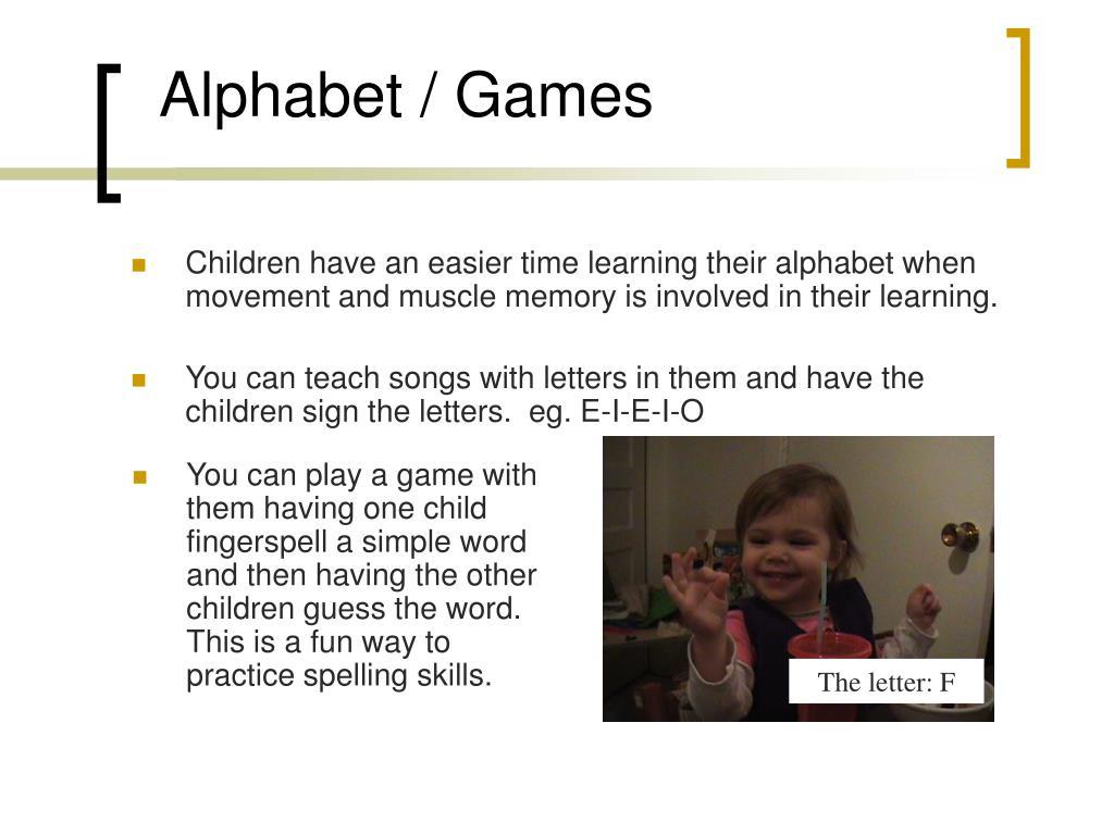 Alphabet / Games