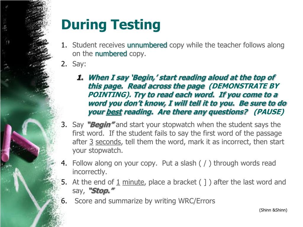 During Testing