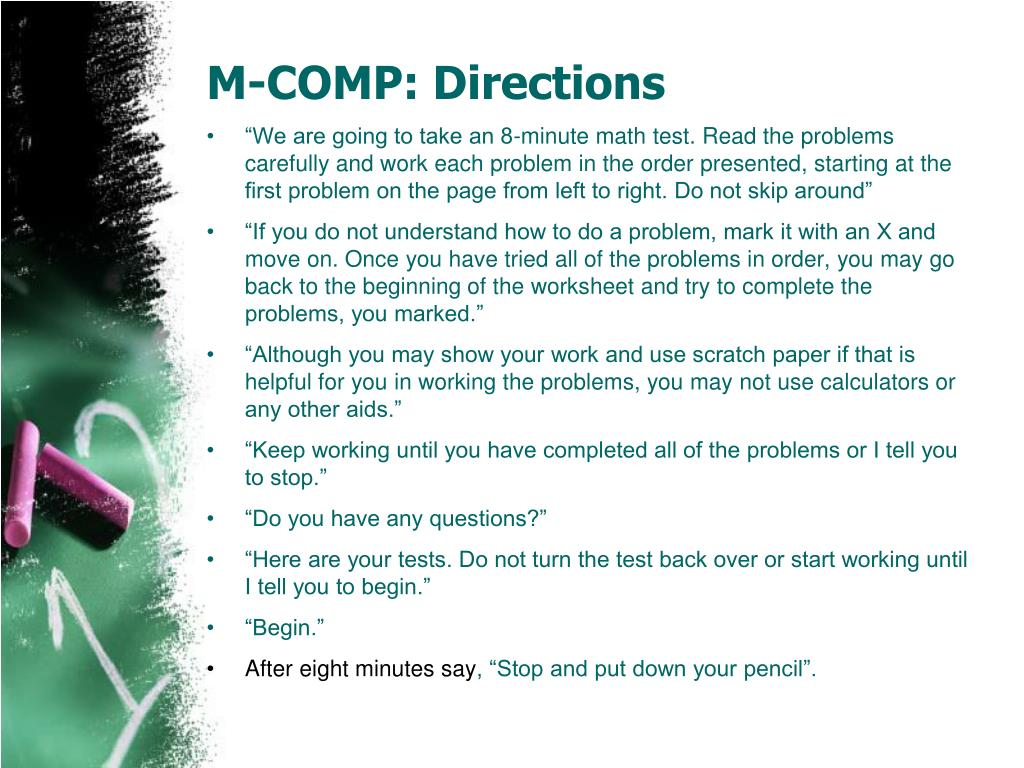 M-COMP: Directions