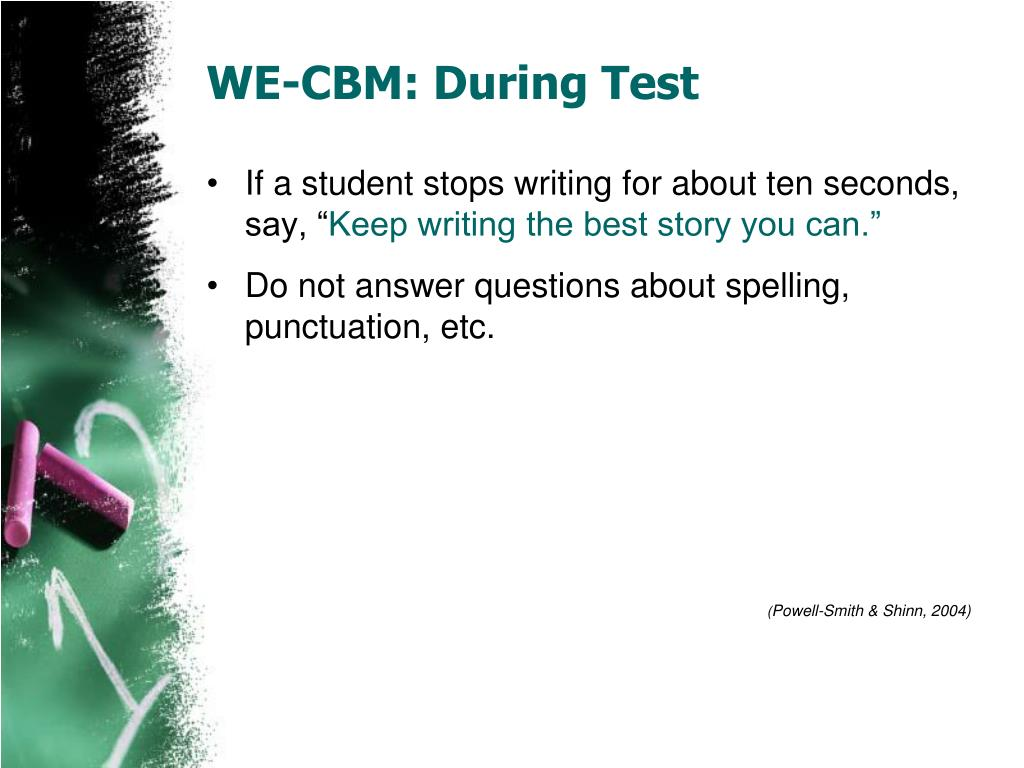 WE-CBM: During Test