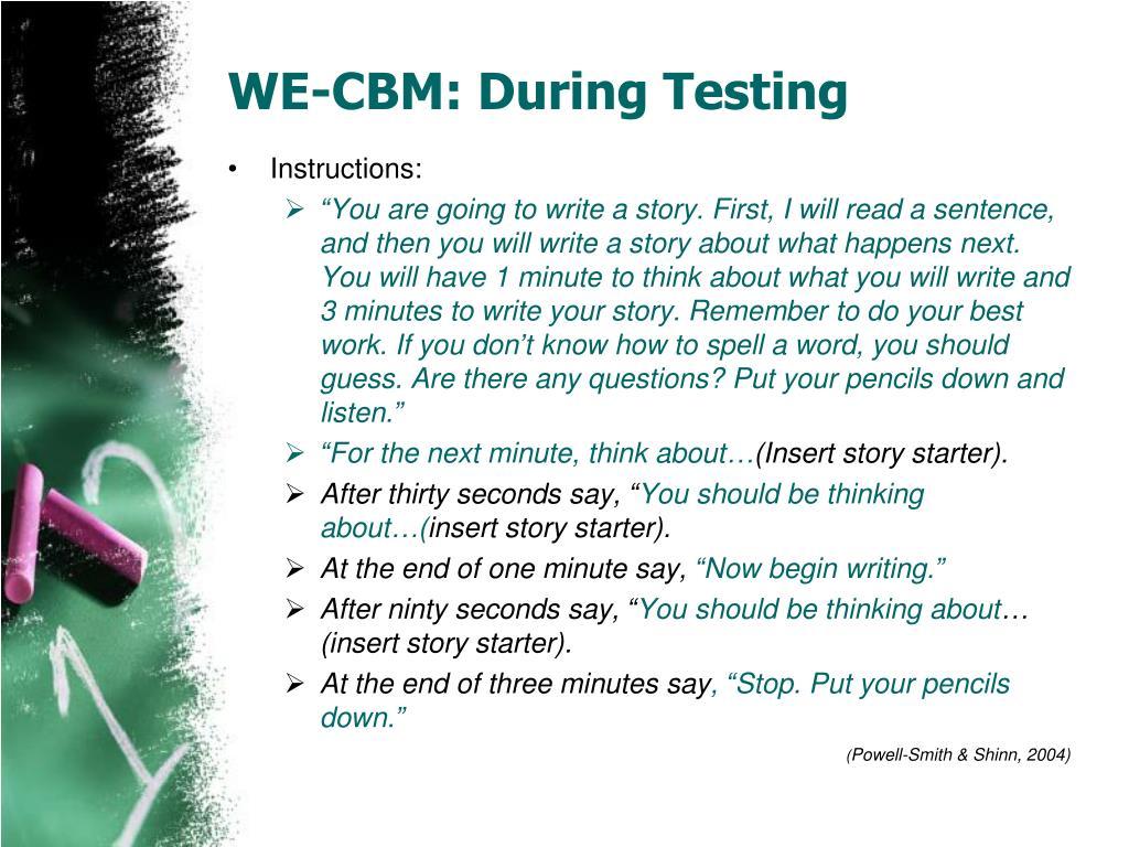 WE-CBM: During Testing