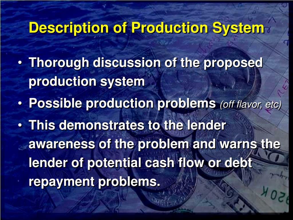 Description of Production System