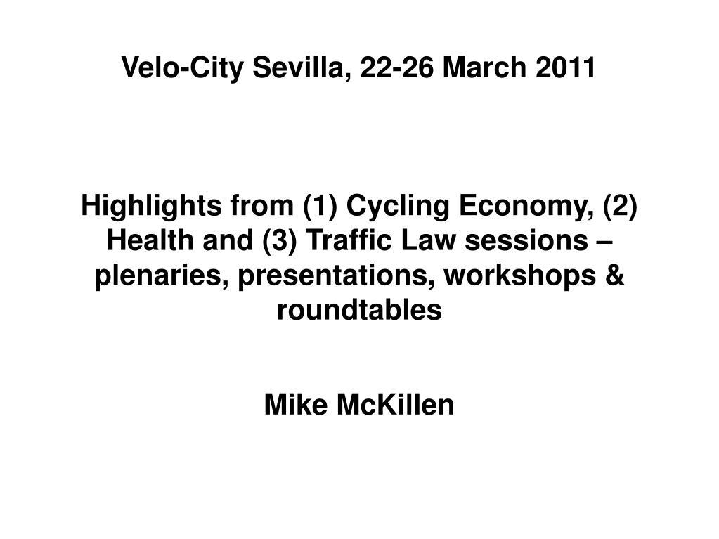 Velo-City Sevilla, 22-26 March 2011