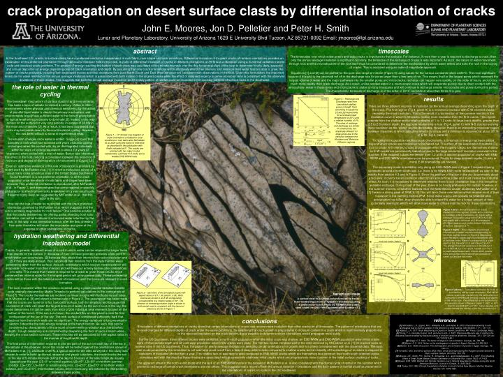 Crack propagation on desert surface clasts by differential insolation of cracks