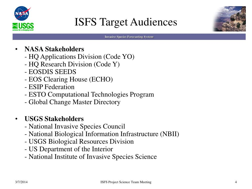 ISFS Target Audiences