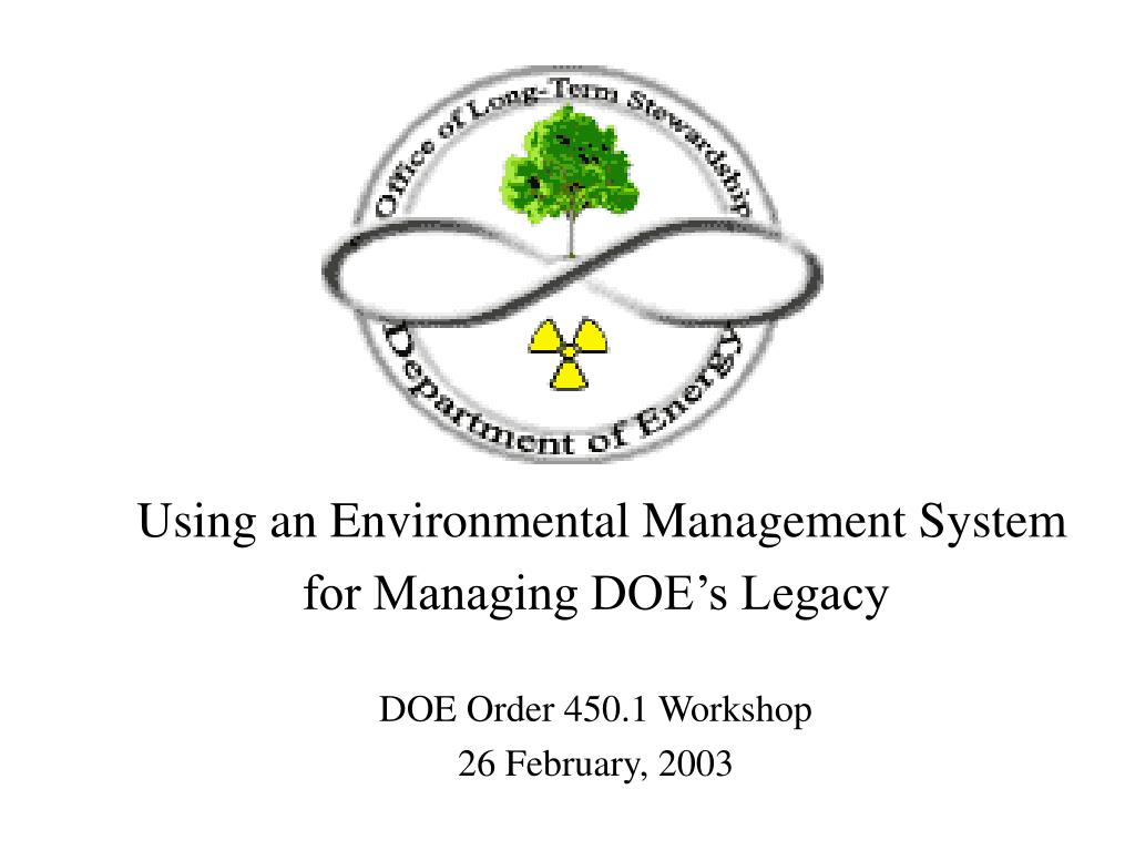 Using an Environmental Management System