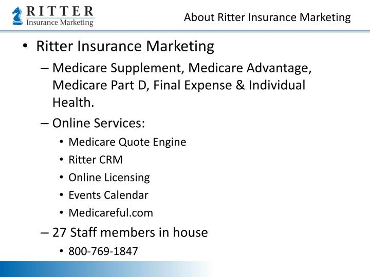 About ritter insurance marketing