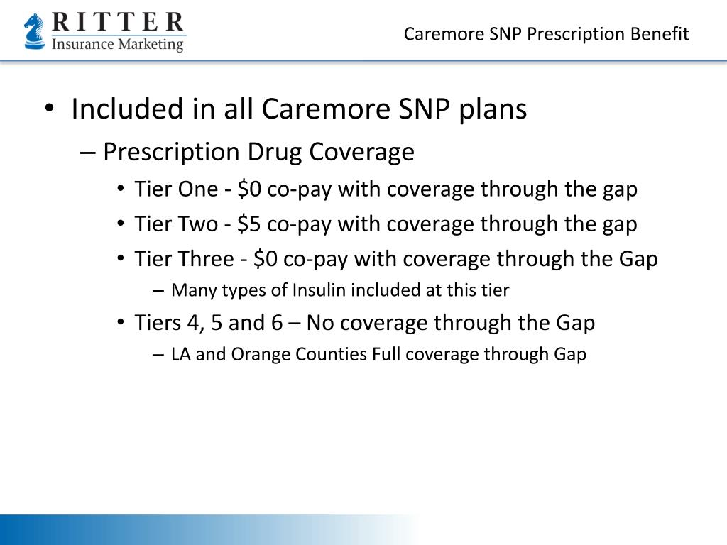 Caremore SNP Prescription Benefit