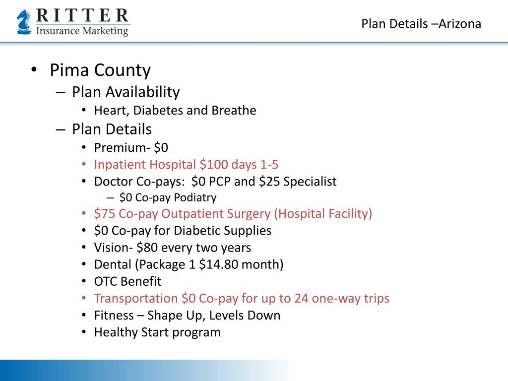 Plan Details –Arizona