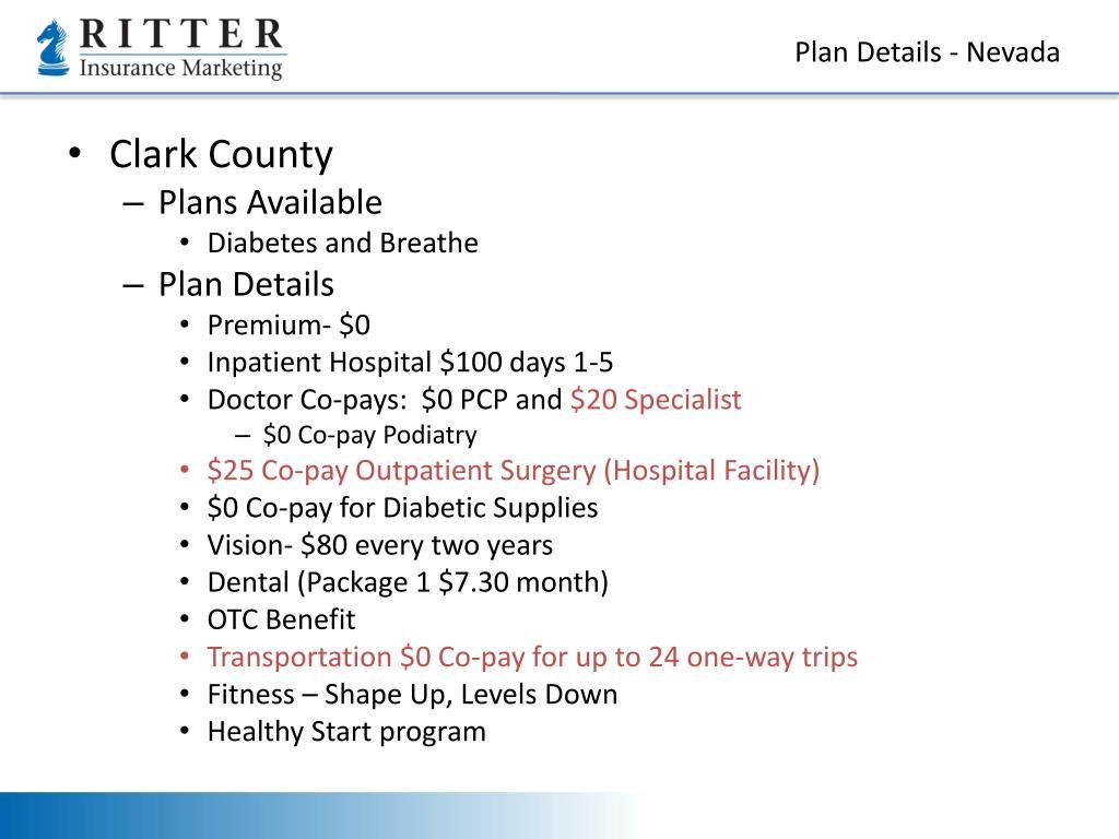 Plan Details - Nevada