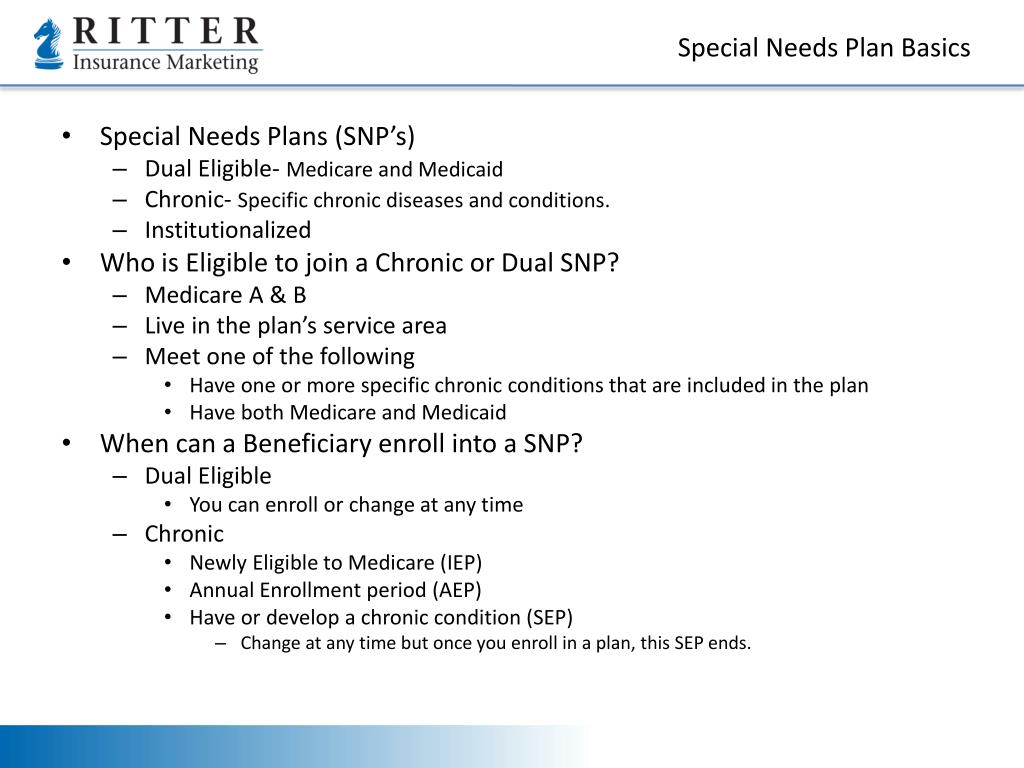 Special Needs Plan Basics