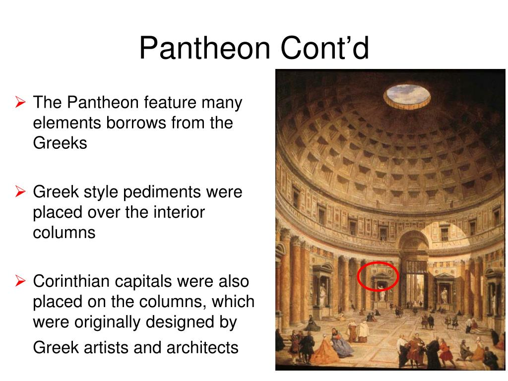 Pantheon Cont'd