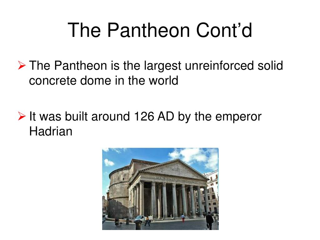 The Pantheon Cont'd