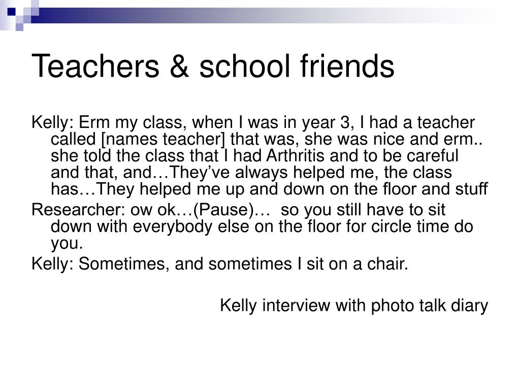 Teachers & school friends