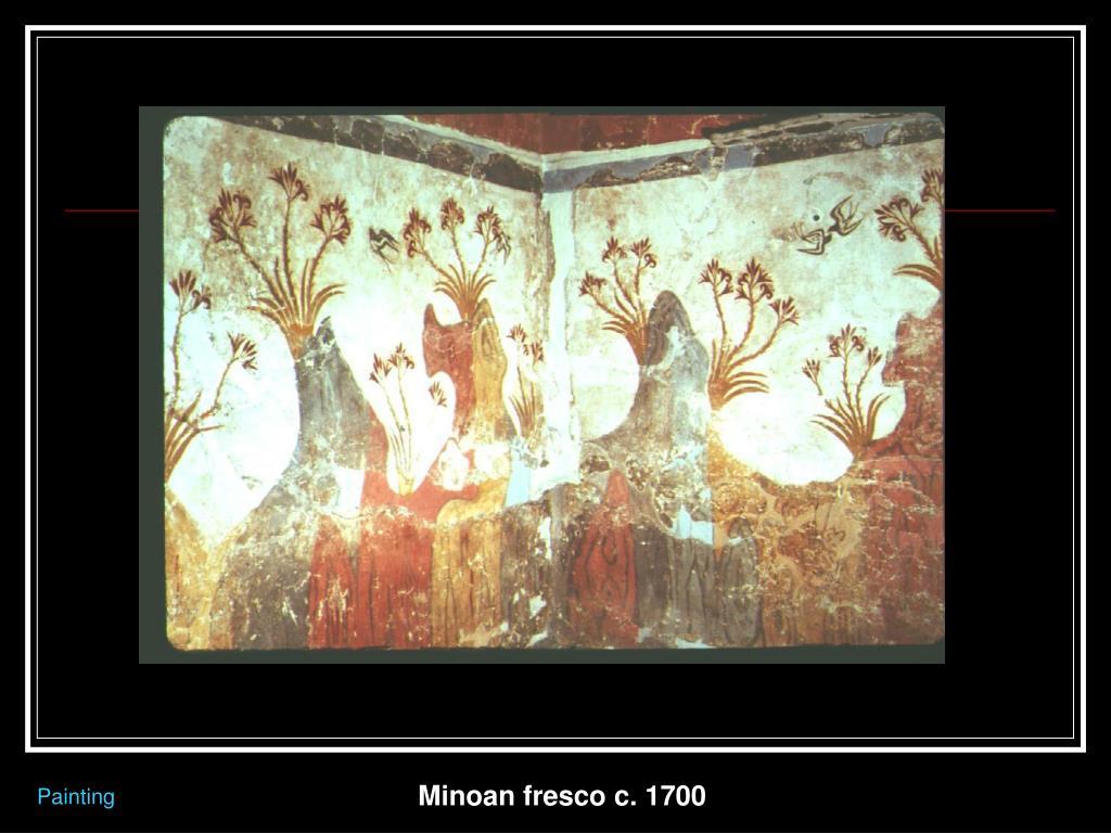 Minoan fresco c. 1700
