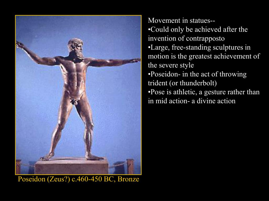 Movement in statues--