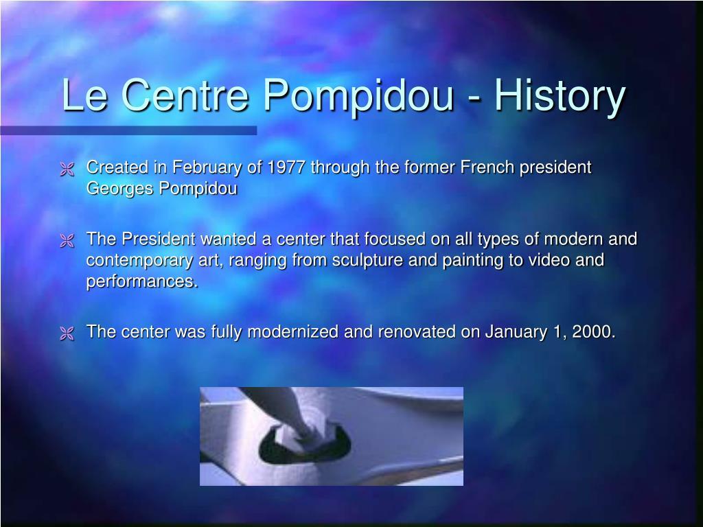 Le Centre Pompidou - History