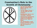constantine s role in the growth of christianity