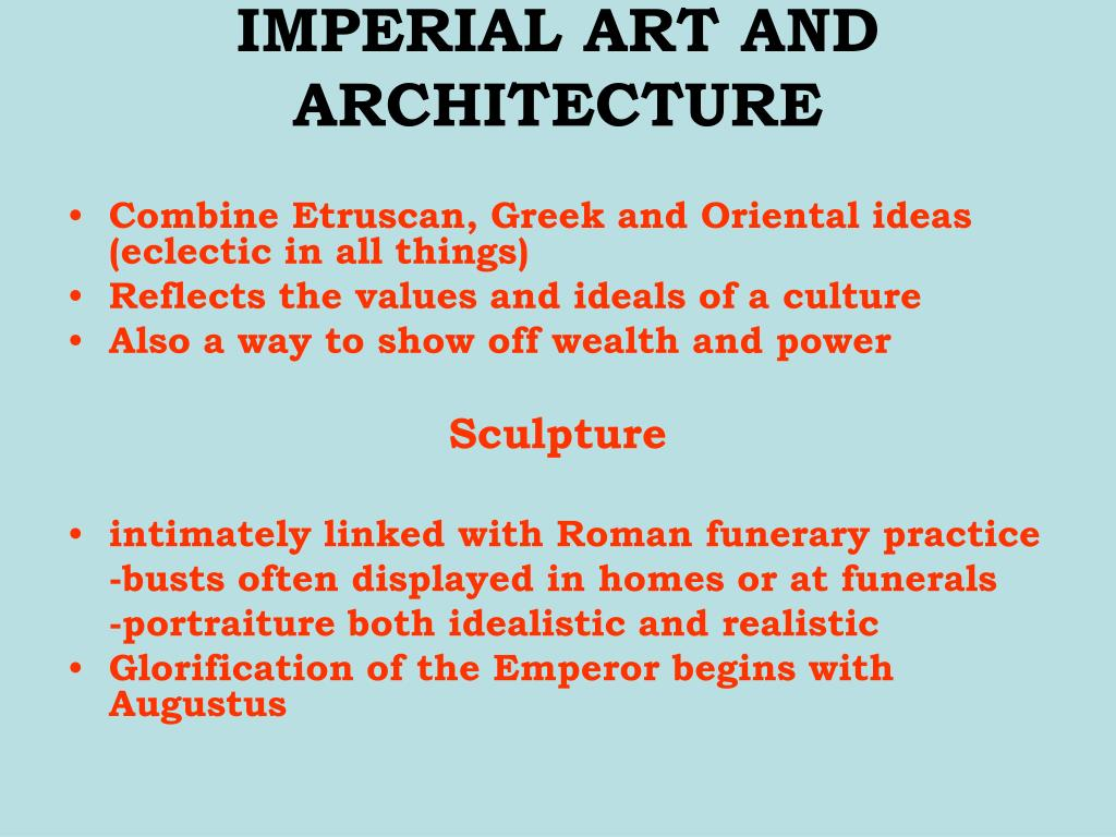 IMPERIAL ART AND ARCHITECTURE