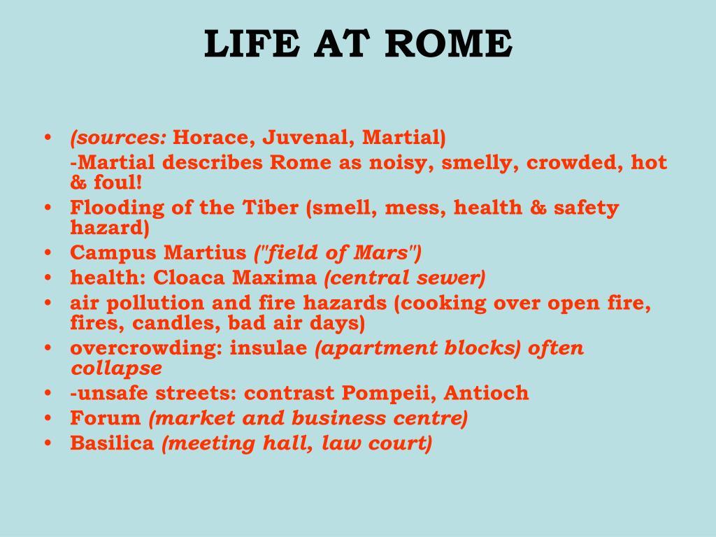 LIFE AT ROME