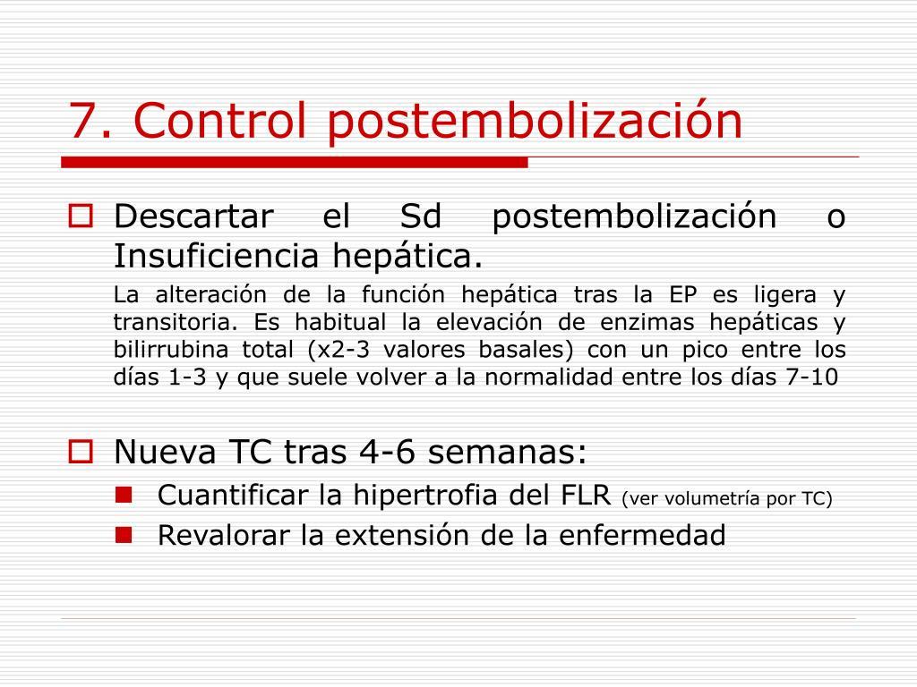 7. Control postembolización