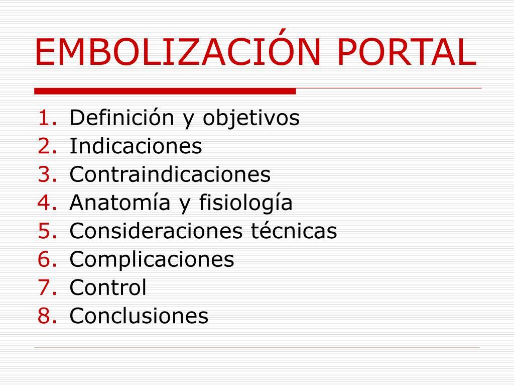 EMBOLIZACIÓN PORTAL