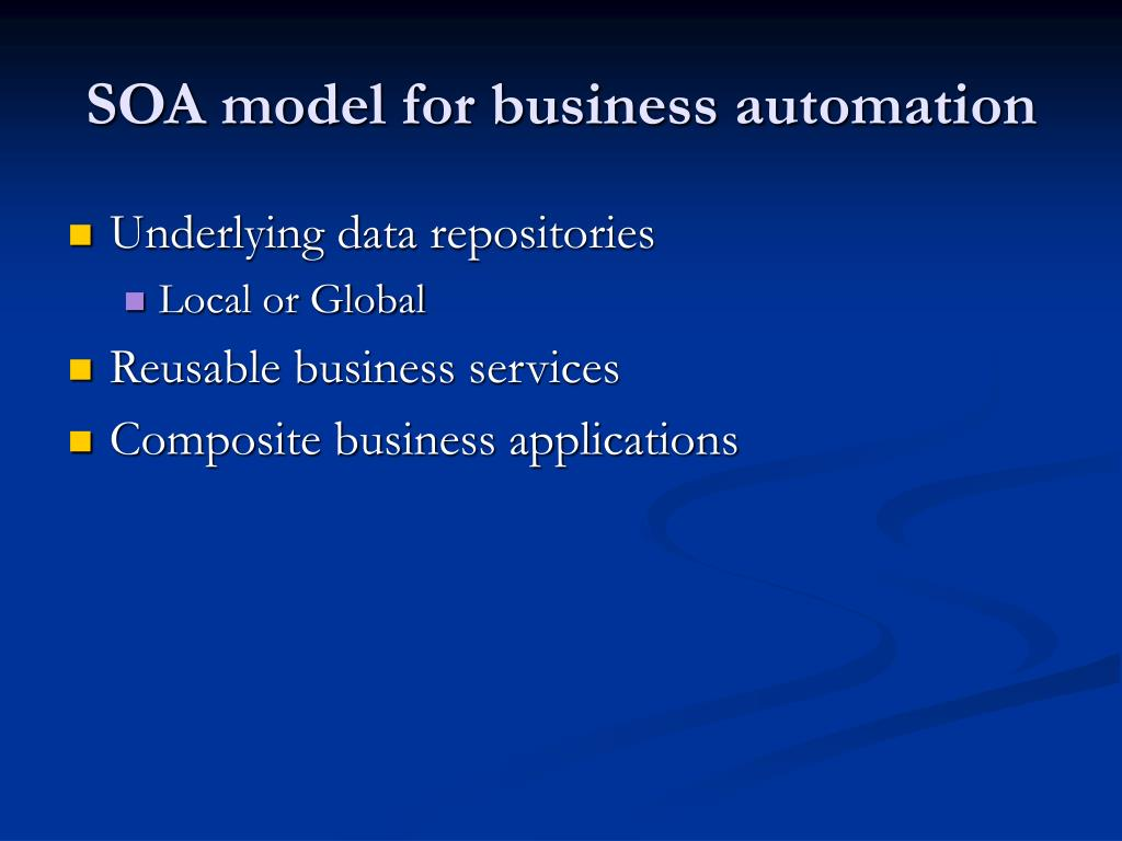 SOA model for business automation