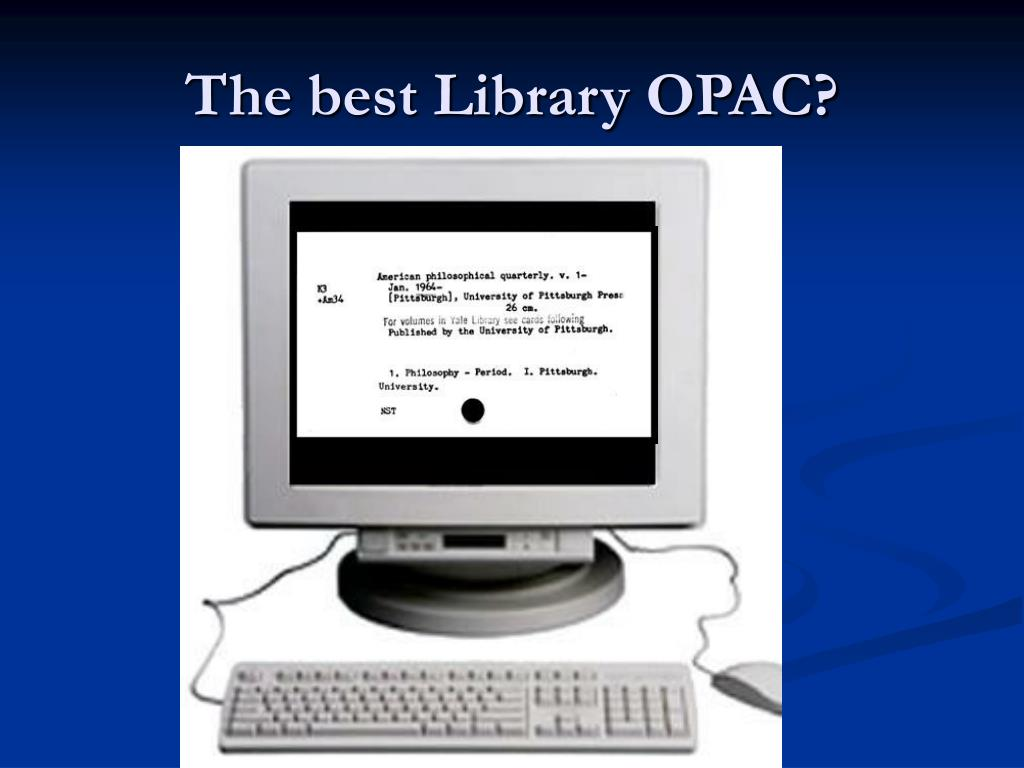 The best Library OPAC?