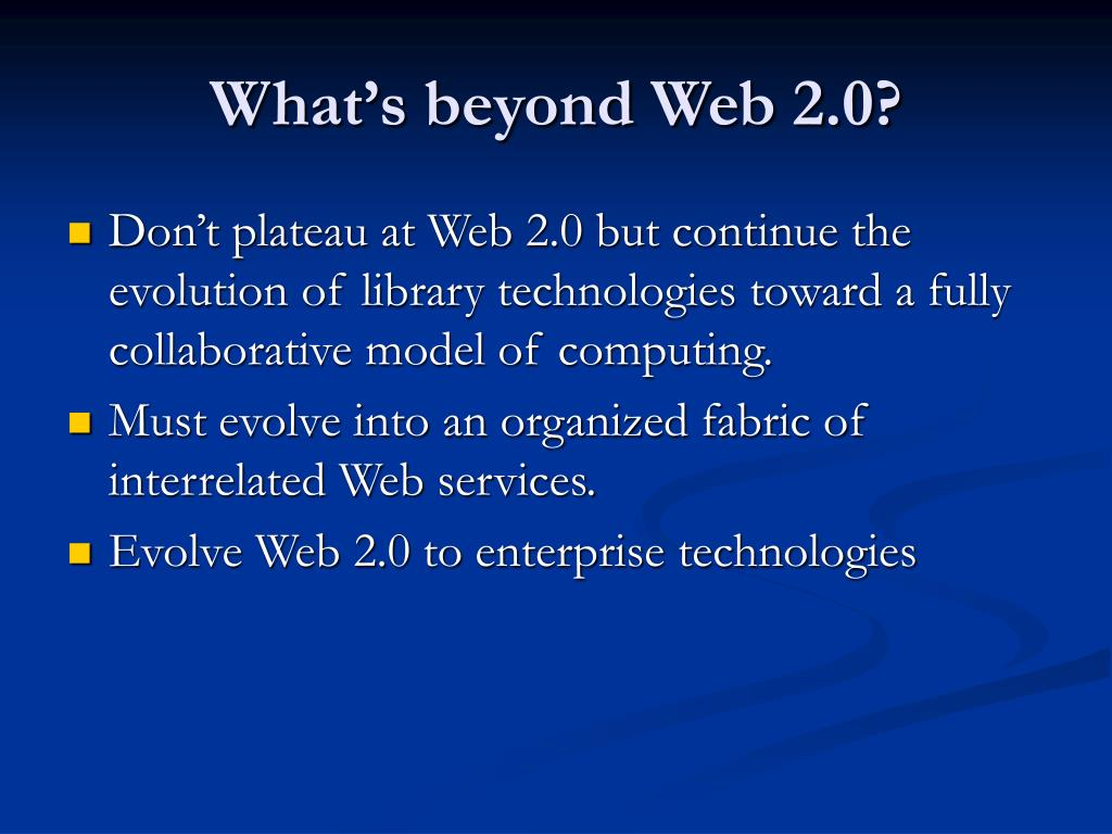 What's beyond Web 2.0?