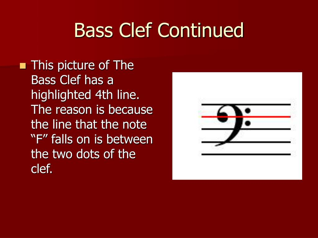 Bass Clef Continued