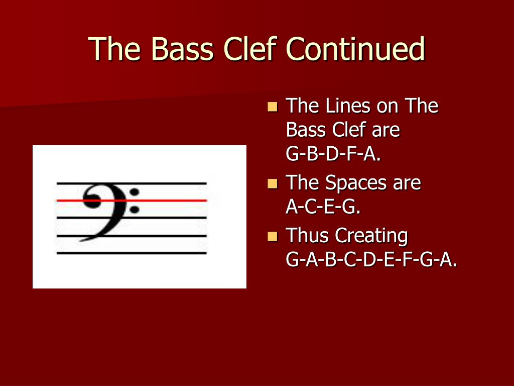 The Bass Clef Continued