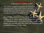 aims objectives importance of cd34 count