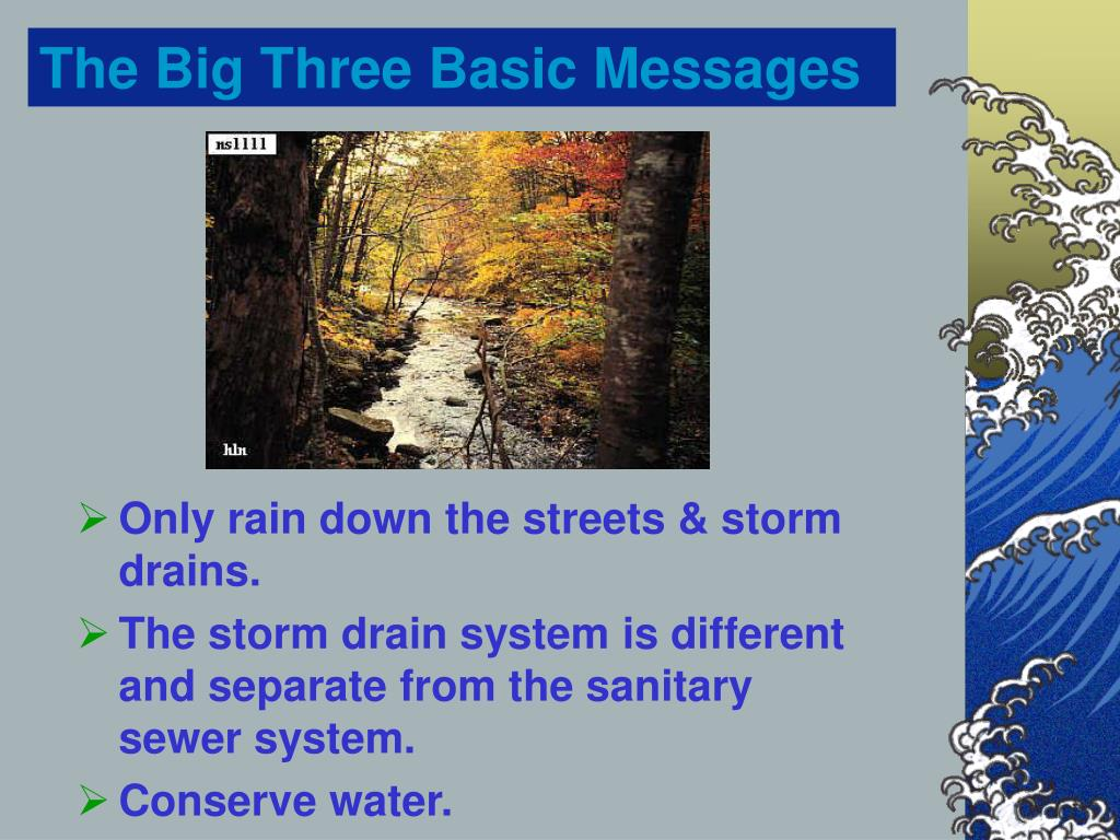 The Big Three Basic Messages
