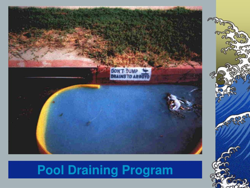 Pool Draining Program