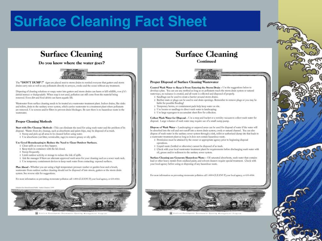 Surface Cleaning Fact Sheet