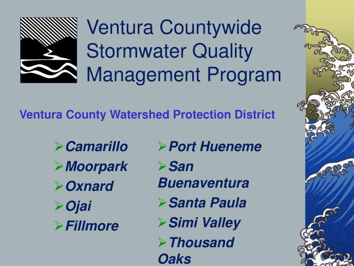 Ventura countywide stormwater quality management program