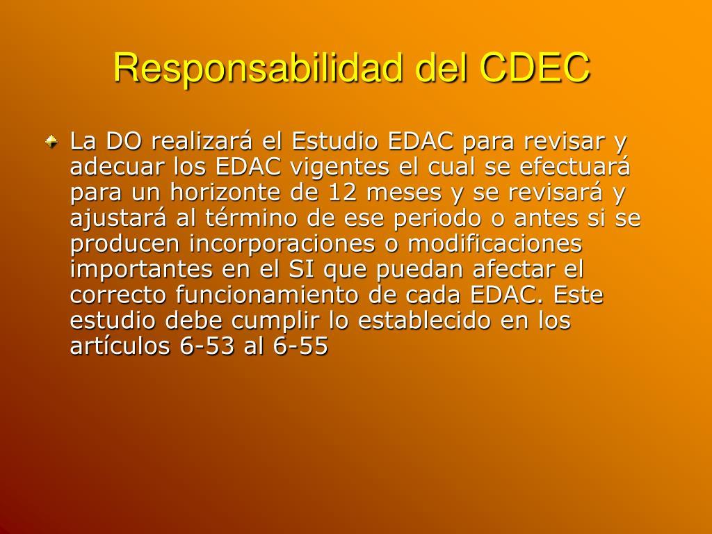 Responsabilidad del CDEC