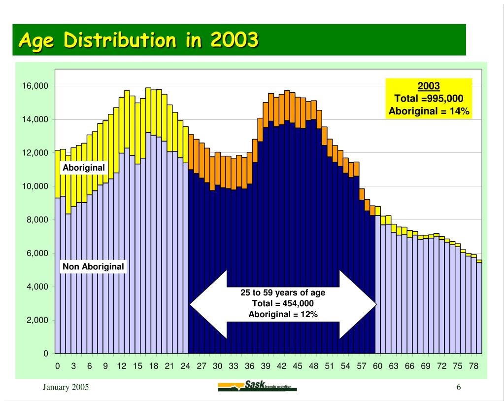 Age Distribution in 2003