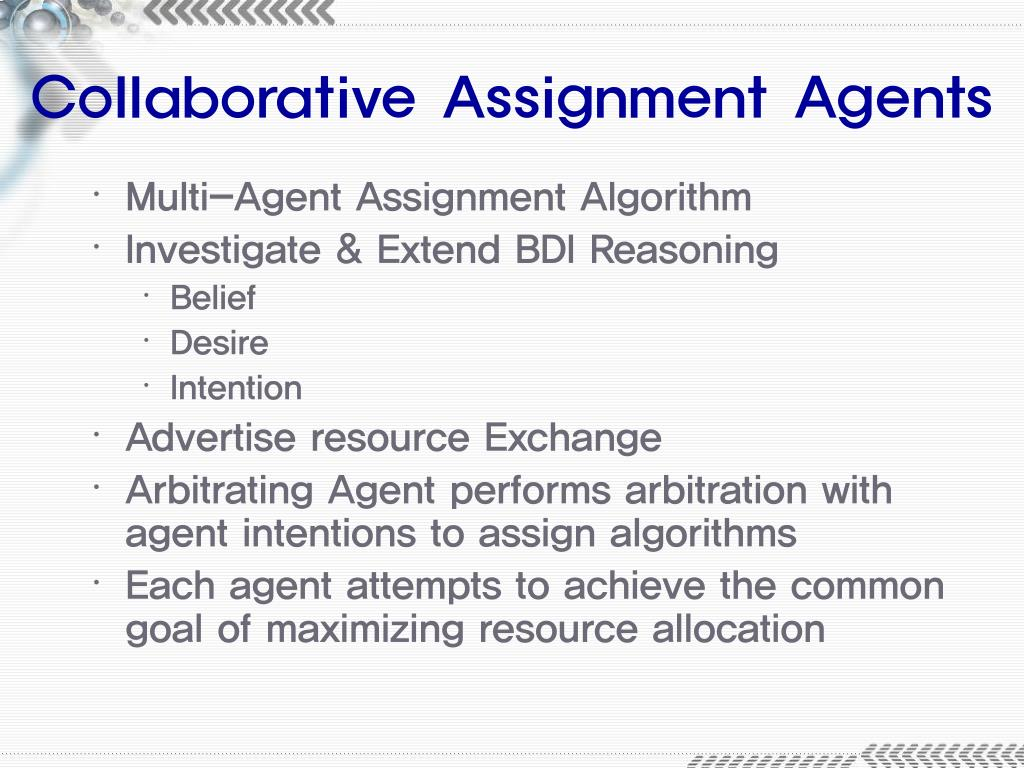 Collaborative Assignment Agents