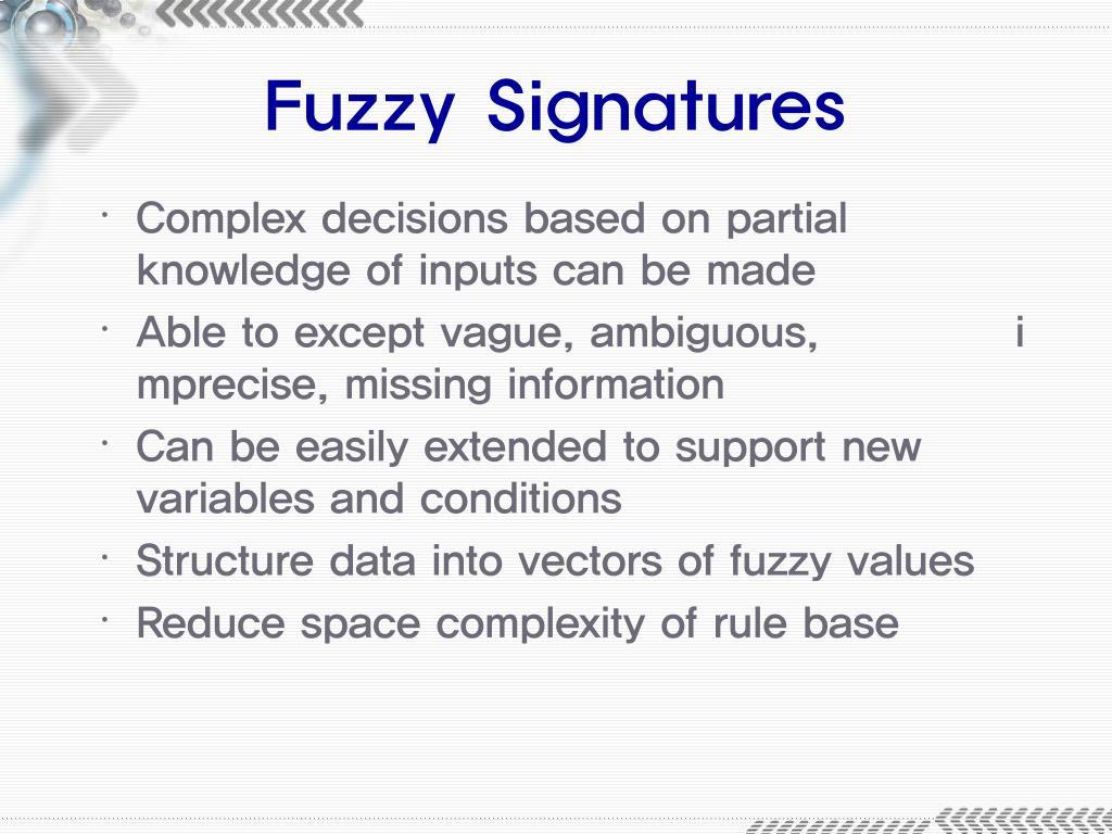 Fuzzy Signatures