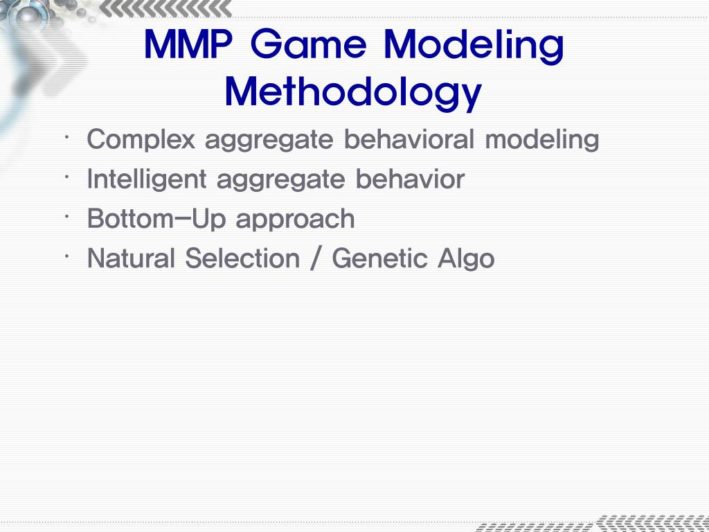 MMP Game Modeling