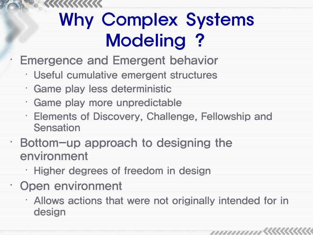 Why Complex Systems